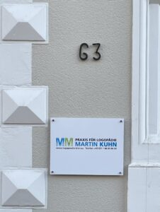 Logopädie Eingang